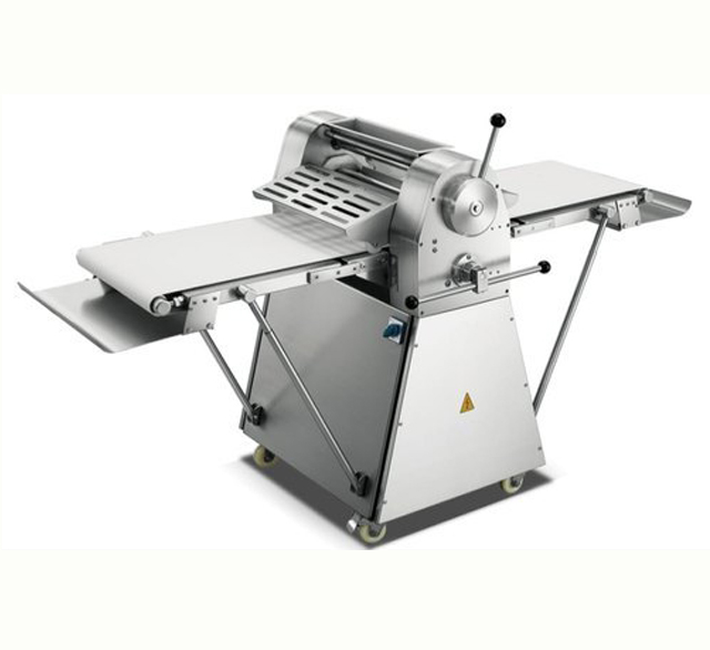 Stretch, flatten, sheet and cut all types of dough quickly with a commercial dough sheeter